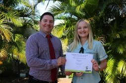 Emma receives a Distinction from CQ University